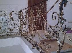 Ограждение лестницы художественная ковка