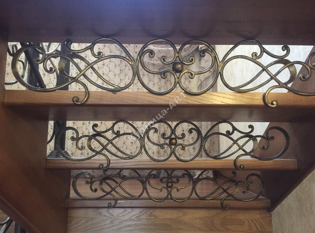 Кованые подступенки для лестницы
