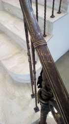 Перила из кованых балясин в каждую ступень