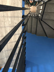 Перила лофт с первого на третий этаж