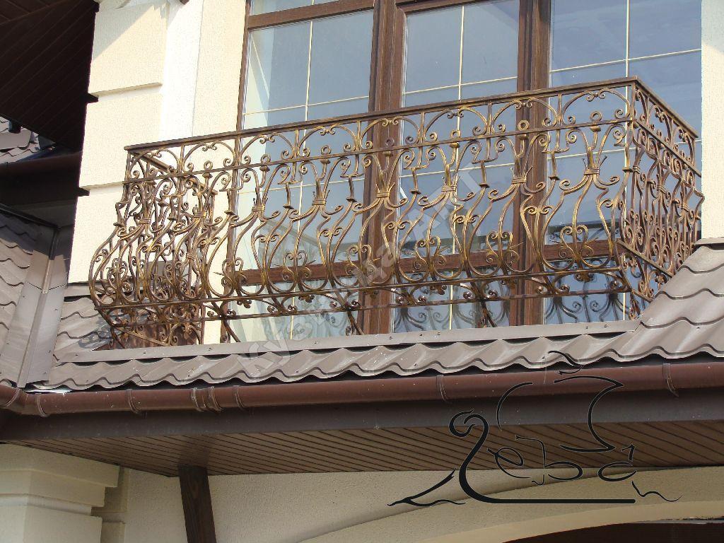 Кованый балкон ручной работы