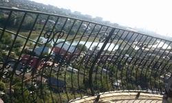 Радиальный кованый балкон