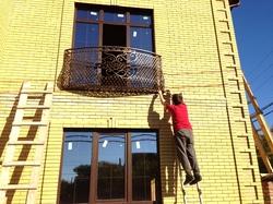 """Кованый балкон """"французская сетка"""", 3 плоскости"""