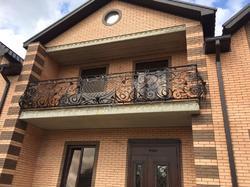 Ограждение балкона ручной работы