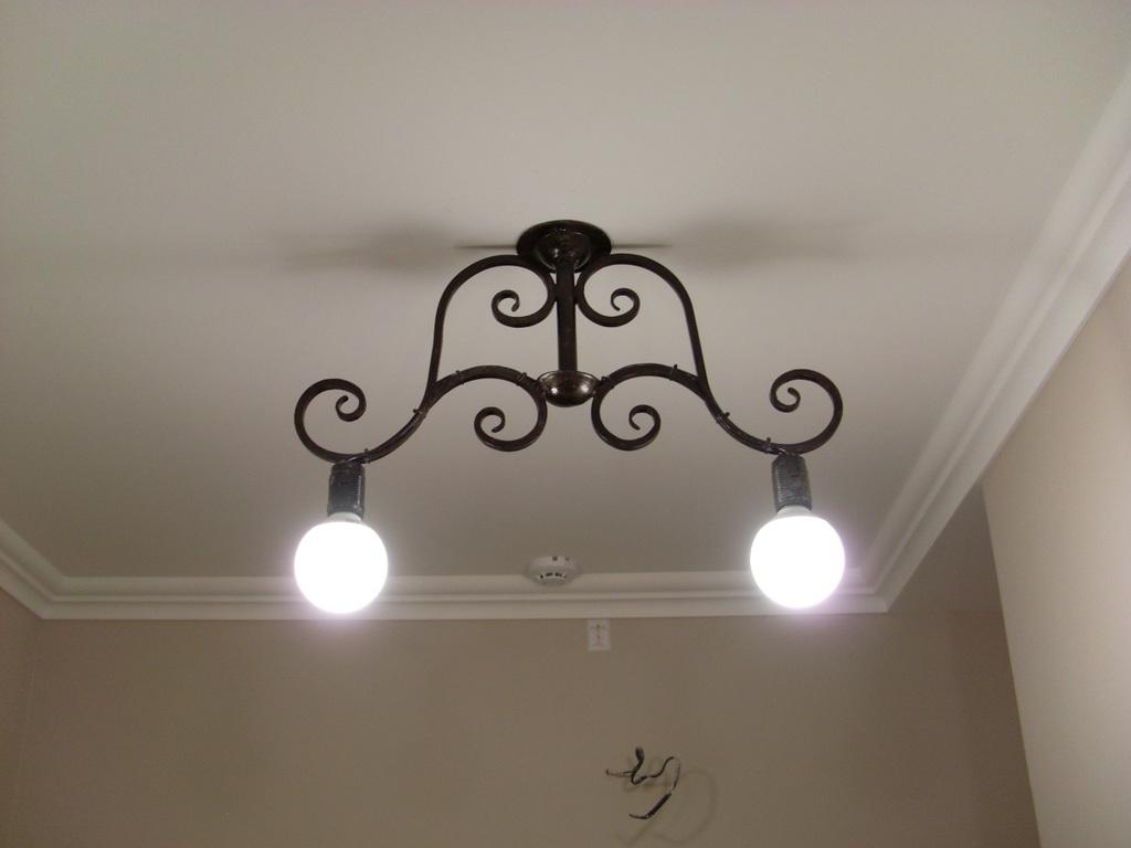 Кованый светильник ручной работы