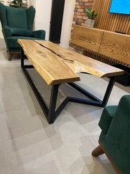 Стол в стиле лофт со слэбом