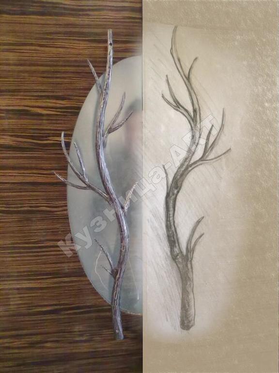 """Кованые ручки на двери """"деревья"""""""