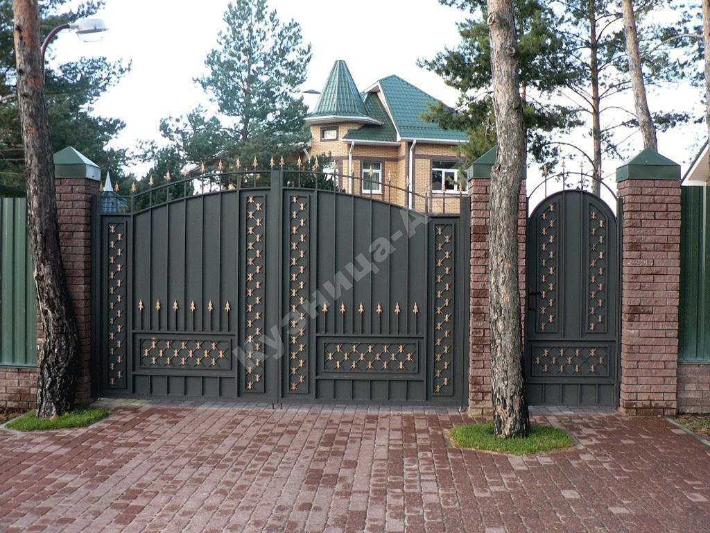Кованые ворота типовой рисунок, по вашему рисунку. Ручная работа