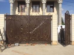 Кованые ворота и калитка на заказ