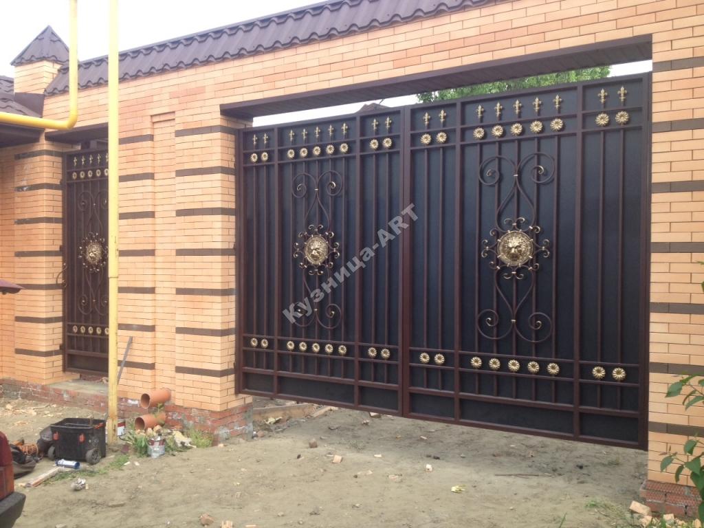 Кованые ворота по любым размерам