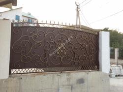 Кованые ворота, калитка и секции подшитые металлом