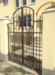 Кованые ворота и калитка по Итальянскому эскизу