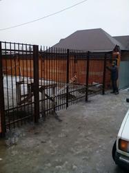 Сварные ворота и забор