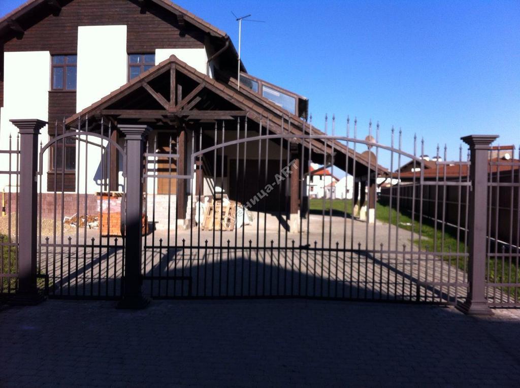 Кованые калитка, забор и ворота