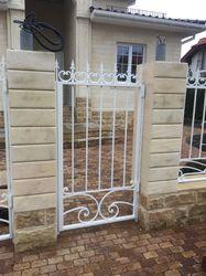 Кованые ворота, калитка и забор