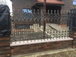 Кованый забор в Английском стиле